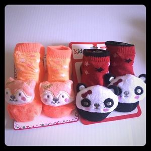 3D Baby 2 Pack Socks NWT